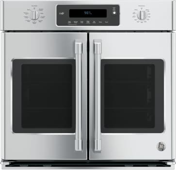 "GE Cafe Series CT9070SHSS - GE Cafe Series 30"" Built-In Convection Single French Door Wall Oven"