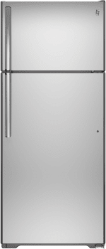GE GIE18GSHSS - Top-Freezer GE Refrigerator with 17.5 cu. ft. Capacity,