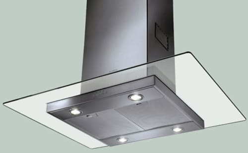 Faber Decorative Collection GLASIS36SS - Glassy Isola Island Chimney Hood