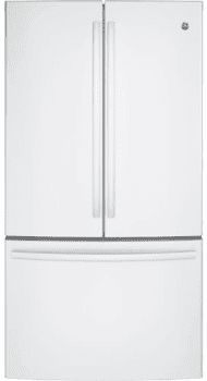 "GE GNE29GGKWW - 36"" ENERGY STAR French-Door Refrigerator in White with 28.5 cu. ft. Capacity"