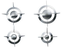 Smeg Piano Design GP64ES - Set of Stainless Steel Replacement Grates and Burner Caps for the PU64ES Gas Cooktop