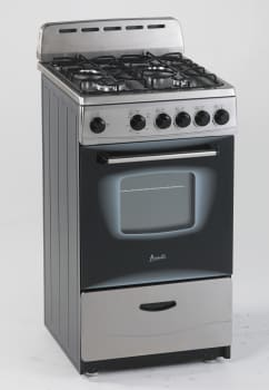 "Avanti GR2013CSS - 20"" Gas Range with 4 Sealed Burners"