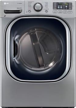 LG SteamDryer Series DLEX4270V - Graphite Steel Front View