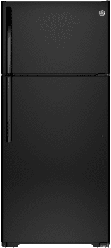 GE GTS16DTHBB - 28 Inch Top-Freezer Refrigerator in Black