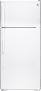 GE GTS16DTHWW - 28 Inch Top-Freezer Refrigerator in White