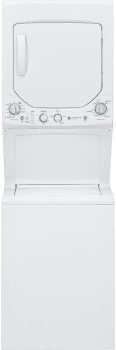 "GE Spacemaker GUD24GSSJWW - 24"" Gas Laundry Center with 2.0 Cu. Ft. Washer and 4.4 Cu. Ft. Dryer"