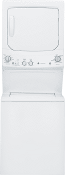"GE Spacemaker GUD27ESSJWW - 27"" Electric Laundry Center with 3.2 Cu. Ft. Washer and 5.9 Cu. Ft. Dryer"