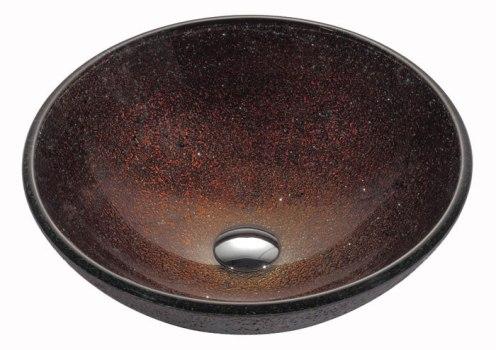 Kraus Copper Series GV570X - Interior View with Chrome Drain