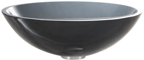 Kraus Clear Black Series GV104CH - Clear Black Glass Sink
