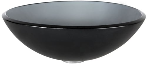 Kraus Frosted Black Series GV104FRCH - Frosted Black Glass Vessel Sink