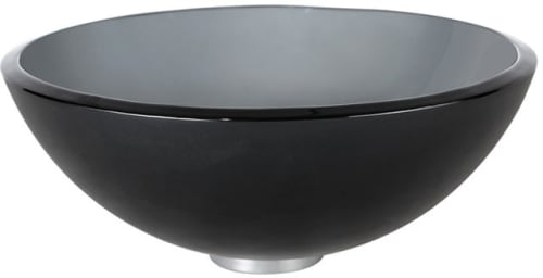 Kraus Frosted Black Series GV104FR14G - Frosted Black Glass Vessel Sink