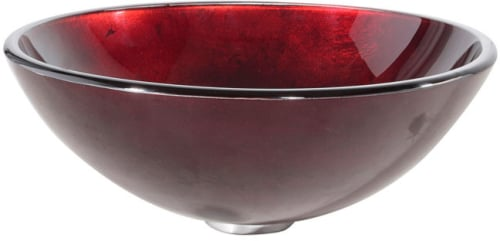 Kraus Galaxy Red Series GV200ORB - Irruption Red Glass Vessel Sink
