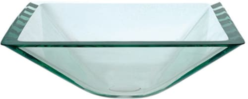 Kraus Square Clear Series GVS90119MMCH - Square Glass Vessel Sink