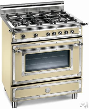 Bertazzoni H304ggvcr 30 Inch Traditional Style Gas Range