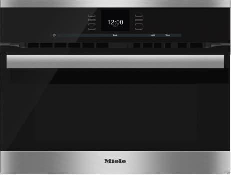 "Miele PureLine SensorTronic Series H6600BM - 24"" PureLine SensorTronic Speed Oven in Clean Touch Steel"