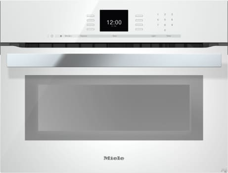 "Miele PureLine SensorTronic Series H6600BMBRWS - 24"" PureLine SensorTronic Speed Oven in Brilliant White"
