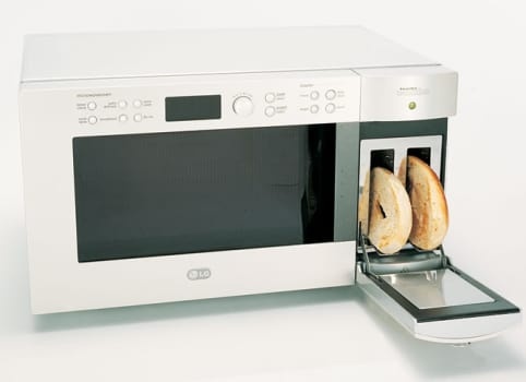 Lg Ltm9000st 0 9 Cu Ft Combination Microwave Oven And
