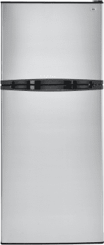 Haier HA10TG21SS - 9.8 cu. ft. Capacity Top Mount Refrigerator - Stainless Steel