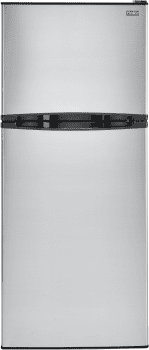 Haier HA12TG21 - 11.5 Cubic Foot Top Mount Refrigerator - Stainless Steel
