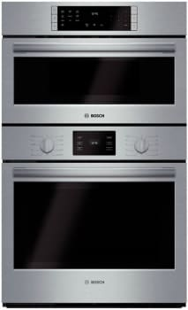 "Bosch 500 Series HBL5751UC - 30"" Speed Combination Wall Oven with 4.6 cu. ft. European Convection Oven, Convection Microwave, 11 Cooking Modes, EcoClean Self-Clean Oven and Oven Light"