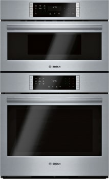 "Bosch 800 Series HBL8753UC - 800 Series 30"" Single Electric Convection Wall Oven with Built-In Microwave"