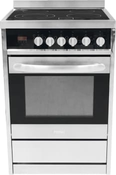 "Haier HCR2250AES - 24"" Electric Range with 4 Radiant Element Ceramic Glass Cooktop and 2.0 cu. ft. Oven"