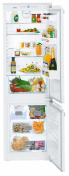 Liebherr HC1050B - Bottom Freezer Refrigerator with 4 Glass Shelves, 3 Door Bins, Ice Maker and Crisper Drawer