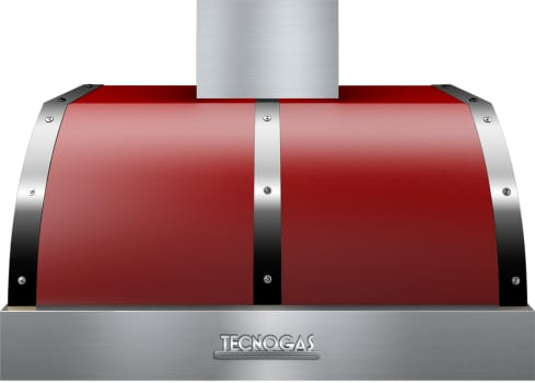 Tecnogas Superiore Deco Series HD361BTRC - Tecnogas Red Wall/Under-Cabinet Mount Hood with Chrome Accents