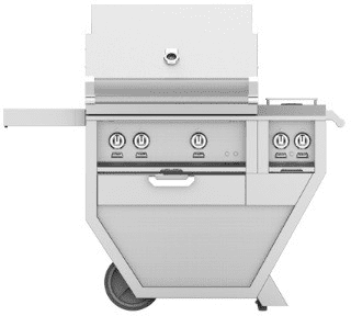 "Hestan GABR30CX2WH - 49"" Freestanding Grill with Double Side Burner"