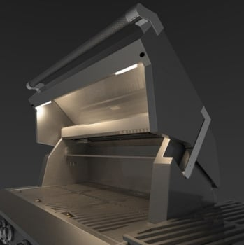 Hestan GABR42CX2RD - Stadium Under-Hood Halogen Lighting