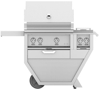 "Hestan GSBR30CX2BK - 49"" Freestanding Grill with Double Side Burner"
