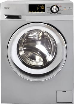 "Haier HLC1700AXW - 24"" Washer/Dryer Combo with 2.0 cu. ft. Capacity - Featured View (Shown in Silver)"