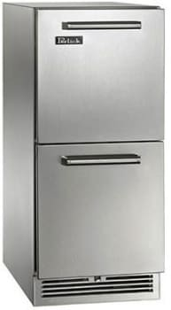 "Perlick Signature Series HP15RS35 - 15"" Refrigerator Drawers (also available for custom panels!)"