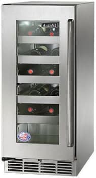 Perlick Hp15ws33l 15 Inch Built In Undercounter Wine Reserve With 20 Bottle Capacity 5 Wine Adjustable Full Extension Wine Shelves 2 8 Cu Ft Volume Energy Star And Digital Temperature Control Stainless Steel Glass Left Hinge Door