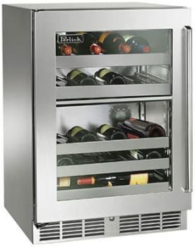 "Perlick Signature Series HP24DO34L - 24"" Signature Series Dual-Zone Wine Reserve (also available as ready for custom panels!)"