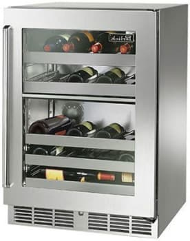 "Perlick Signature Series HP24DO34R - 24"" Signature Series Dual-Zone Wine Reserve (also available as ready for custom panels!)"