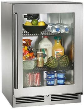 "Perlick Signature Series HP24RS33R - 24"" Signature Series Refrigerator (also available as ready for custom panels!)"