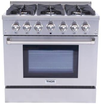 36 Gas Range >> Thor Kitchen Hrg3618u 36 Inch Freestanding Gas Range With Convection