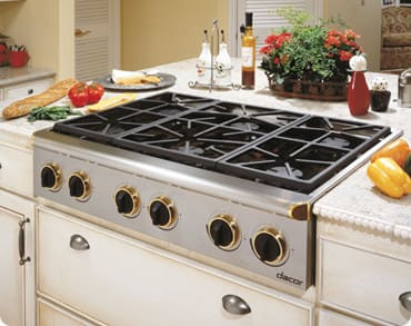 Dacor Esg366sch 36 Inch Gas Cooktop With Six 15 000 Btu