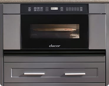 Dacor Discovery MMD30 - Black Glass with Vertical Stainless Steel Trim