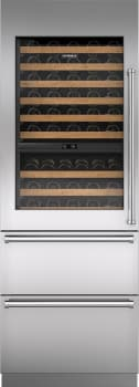 "Sub-Zero IW30RLH - 30"" Integrated Wine Storage with Pro Handle and Refrigerator Drawers"