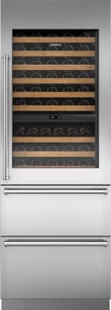 "Sub-Zero IW30R - 30"" Integrated Wine Storage with Pro Handle and Refrigerator Drawers"