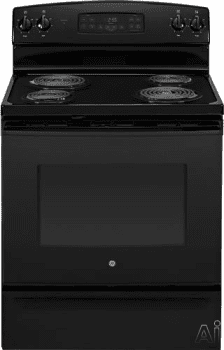 "GE JB255DJBB - Black 30"" Electric Range"
