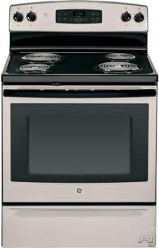 "GE JB255GJSA - Silver/Black accents 30"" Electric Range"