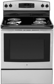 "GE JB255 - Stainless Steel 30"" Electric Range"
