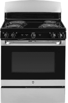"GE JB450RKSS - 30"" Freestanding Electric Range with 4 Cooktop Burners and 5.0 cu. ft. Oven"