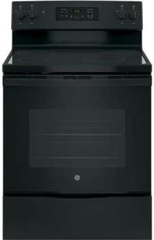 "GE JB625DKBB - 30"" Freestanding Electric Range in Black with 4 Smoothtop Burners and 5.3 cu. ft. Oven"
