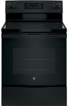 "GE JB645DKBB - 30"" Freestanding Electric Range in Black with 4 Smoothtop Burners and 5.3 cu. ft. Oven"