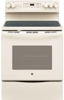 """GE JB655DKCC - 30"""" Freestanding Electric Range in Bisque with 5 Smoothtop Elements and 5.3 cu. ft. Self-Cleaning Convection Oven"""