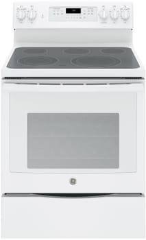 "GE JB750DJWW - 30"" Freestanding Electric Range with 5 Heating Elements"